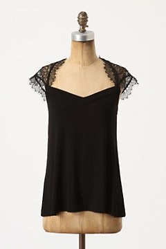 refashion inspiration for black singlets - romantic and covers shoulders... :)