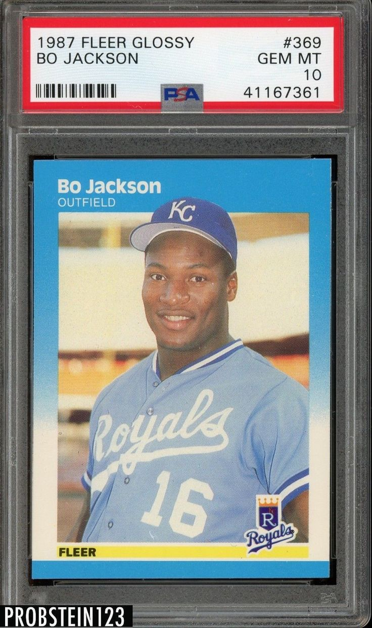 1987 fleer glossy 369 bo jackson rc rookie kansas city
