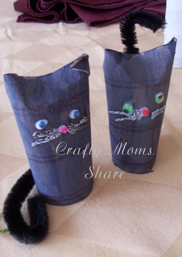 Paper Tube Black Cat Craft