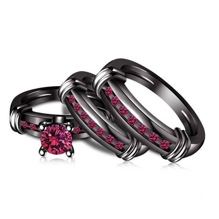 154 best Gothic Wedding Rings images on Pinterest Gothic wedding