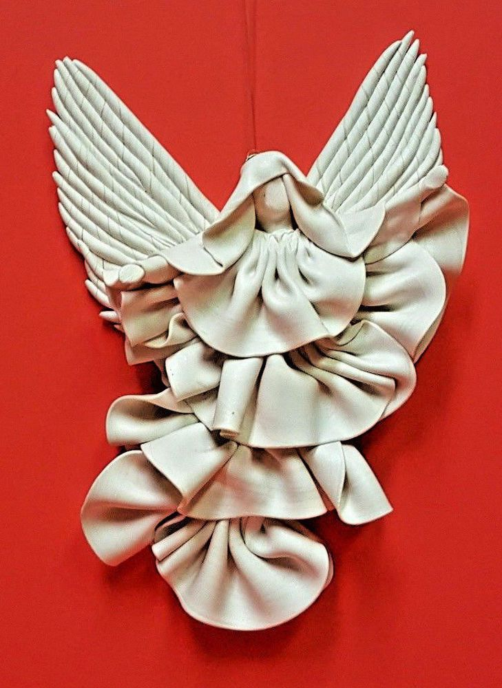 Wall Angel Decor TINY Sculpture Art Home Hanging Design-Signed by