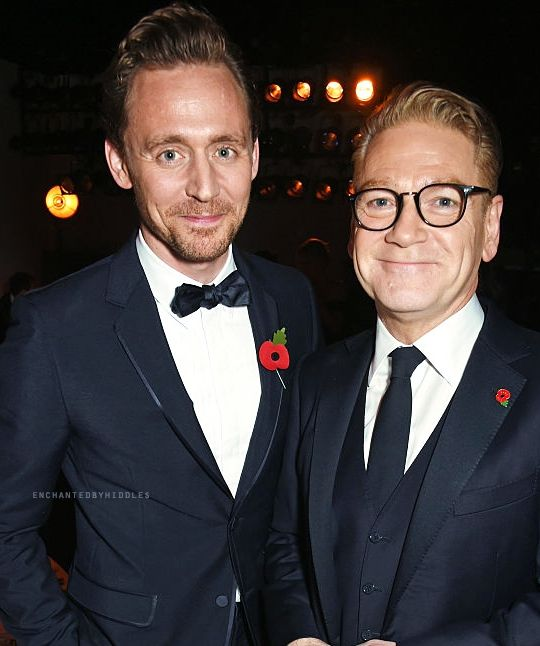 Tom Hiddleston at Kenneth Branang at the Evening Standard Theatre Awards. Via enchantedbyhiddles.tumblr