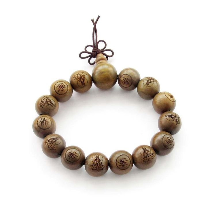 Green Sandalwood Bead Bracelet