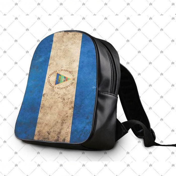 Nicaragua Flag Rough School Bag Backpacks