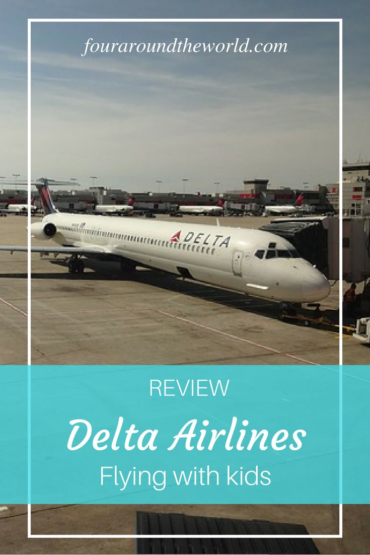 Review Delta Airlines with kids
