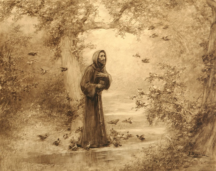 Saint Francis Preaching to the Birds by Josep Benlliure
