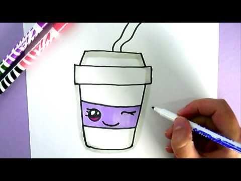 COMMENT DESSINER TASSE DE CAFÉ KAWAII ÉTAPE PAR ÉTAPE – Dessins kawaii facile - YouTube