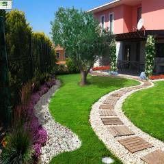 asis mimarlık peyzaj inşaat a.ş. - Sultan Konakları Villa Projesi Tasarımı Ve Uygulaması: modern tarz Bahçe