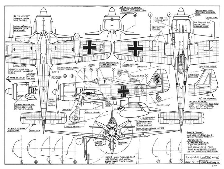Free Online Drawing: FW-190A