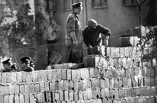 Construction starts on the Berlin Wall in 1961