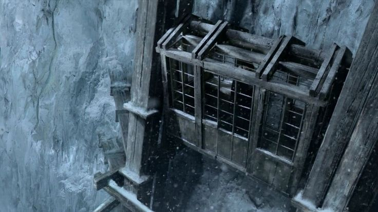 So if I could convince Tom to build a winch lift for the house, the finished product would have to look something like the lift at the wall in Game of thrones. Obviously...
