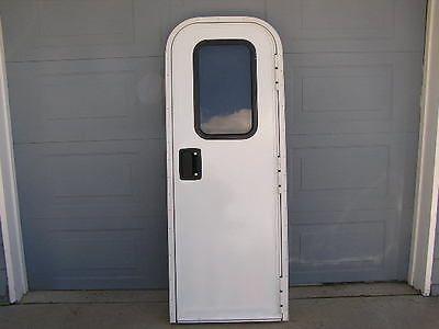 OEM Trail Wagons Chinook RV Entrance Door Window Lock w/ Key Screen Jam 28x74