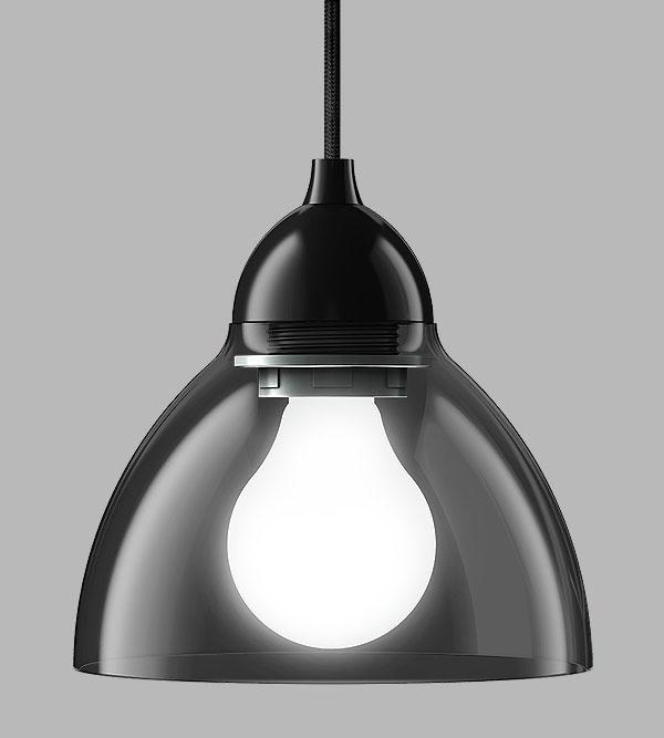 Selene pendant light in black lighting beleuchtung luminaires design razz industrial