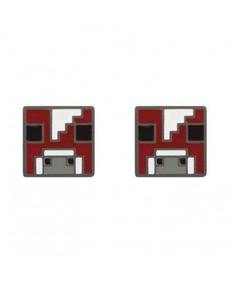 Minecraft Video Game Mooshroom Enamel Stud Earrings – CH12O85KOSF   – My Jewelry Board