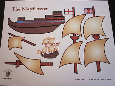 The Mayflower:{Kids Craft} Free printable.