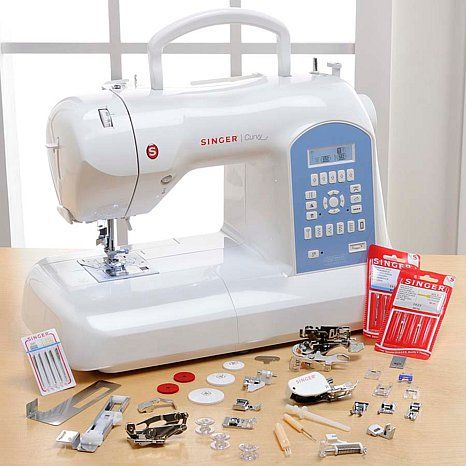 """Singer� """"Curvy"""" Computerized Sewing Machine at HSN.com"""