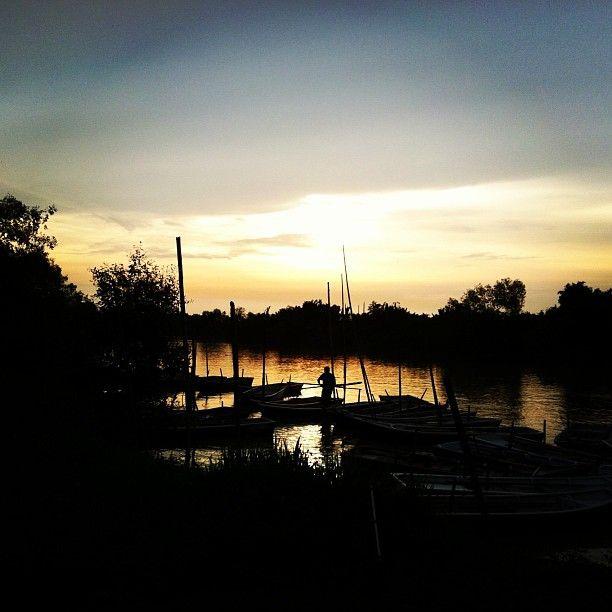 Gorgeous riverfront sunset at Kampung Kuantan, Kuala Selangor