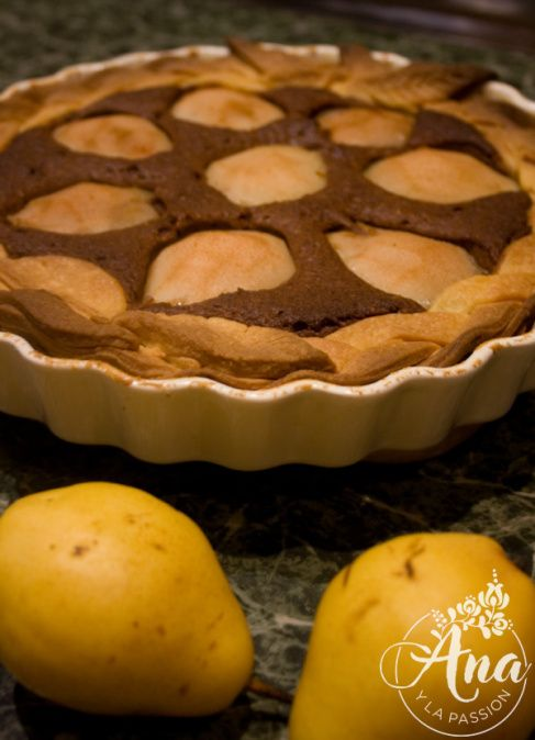 Cacao-pear cake by Ana y la passion #dessert #cake