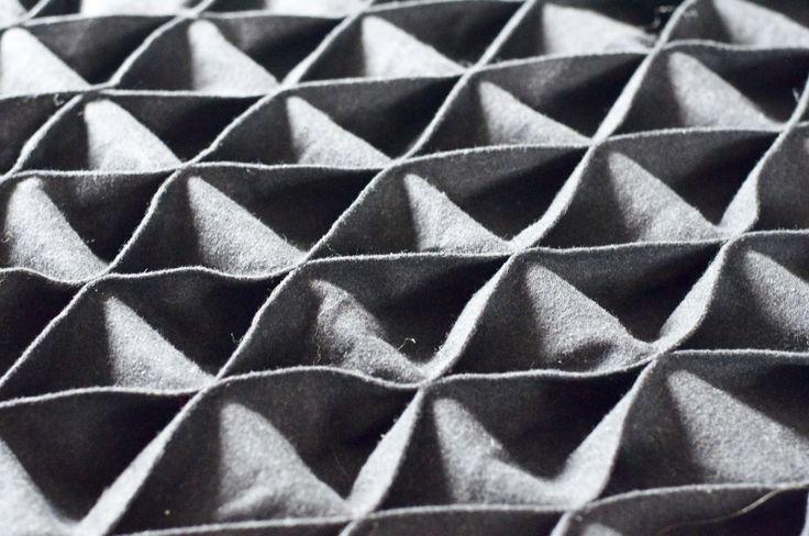 Geometric fabric manipulation - dimensional texture, shape, construction #textiles
