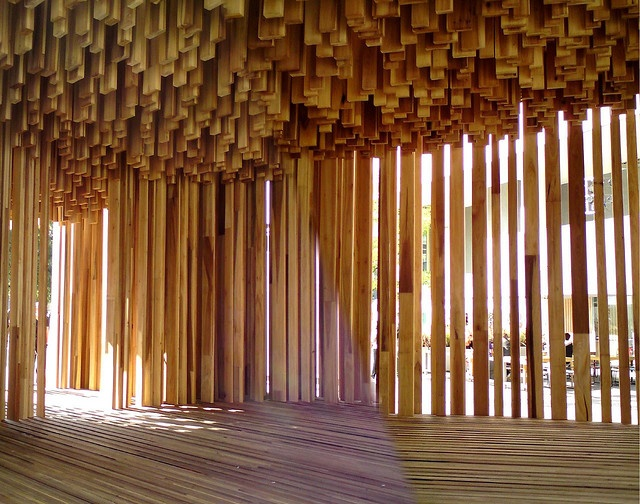 David Adjaye's Sclera a tulipwood pavilion, Southbank, London by Craig Grobler, via Flickr