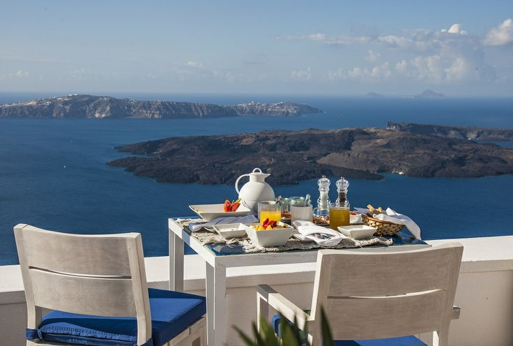 Enjoy a late breakfast on your dedicated terrace seating area, while appreciating the scenery of the beautiful caldera...