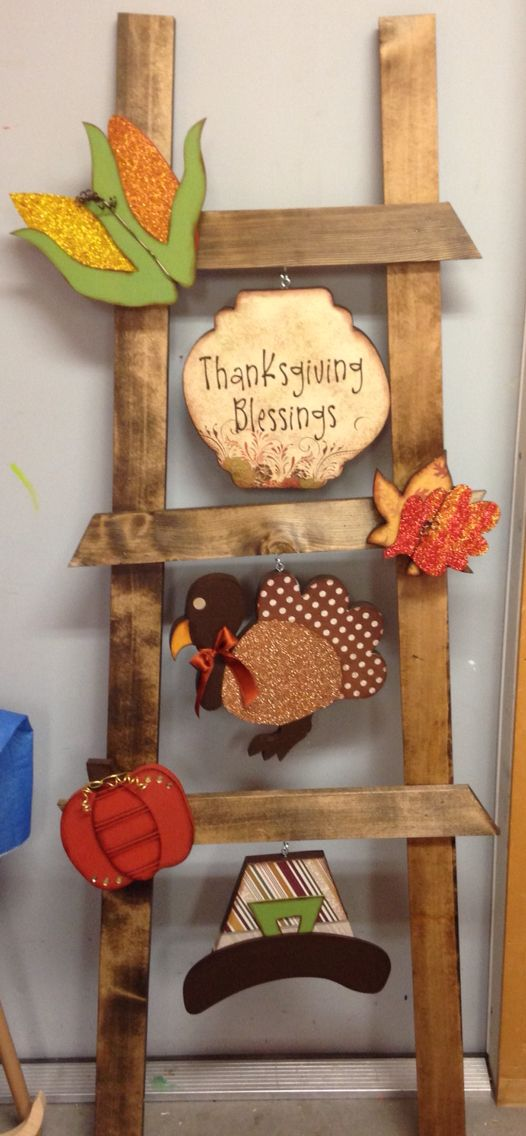 Thanksgiving ladder kit from Wood Creations.