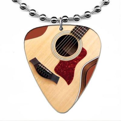 TAYLOR Acoustic GUITAR PICK NECKLACE Ball Chain Plectrum Music Jewelry