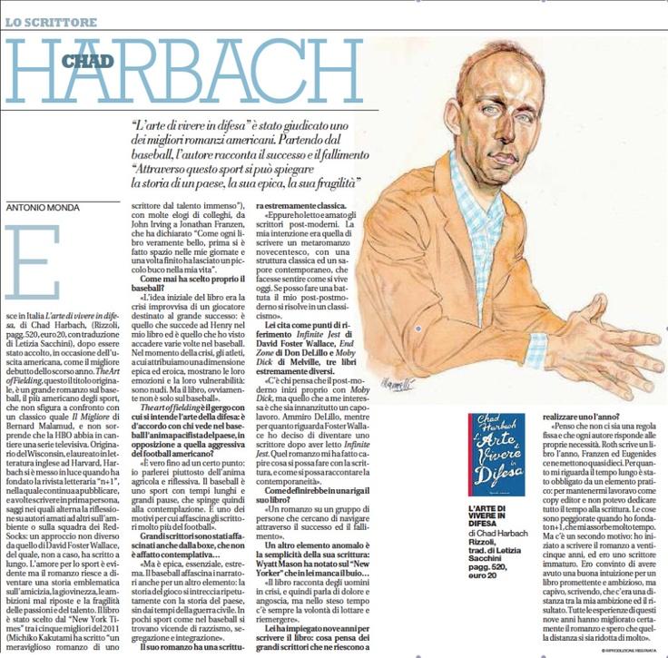 L'intervista di Antonio Monda a Chad per Repubblica  Chad interviewed for La Repubblica (Italy's leading newspaper) by Antonio Monda