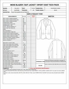Fashion Apparel Tech Pack Templates | My Practical Skills