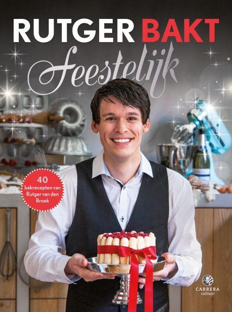 Rutger bakt feestelijk - Rugter van den Broek - Uitgeverij Carrera. 40 heerlijke bakrecepten van de beste thuisbakker van Nederland Rutger bakt feestelijk biedt 40 heerlijke recepten voor de feestdagen. Van originele broden voor op de brunchtafel en ambachtelijke koekjes, cakes en taarten voor bij de koffie tot spectaculaire taarten om het feestdiner mee af te sluiten. http://www.uitgeverijcarrera.nl/boek/Rutger-bakt-feestelijk-T5035.html