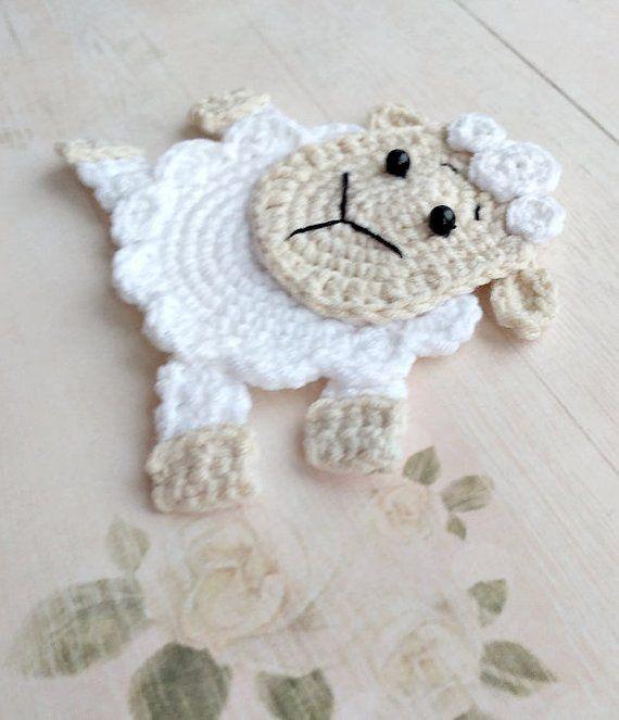 Lamb Embellishment Crochet Lamb Applique Lamb Motif