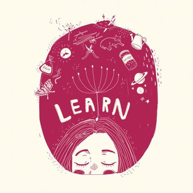 (3/3) Learn | Art by Kathrin Honesta (@kathrinhonestaa)