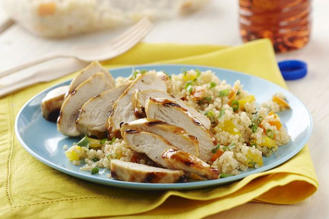 Try our Simple Chicken-Quinoa Supper recipe for an easy chicken dish. This simple chicken recipe is great for a family night in.