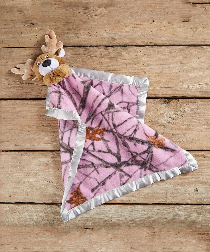 This True Timber 16'' x 16'' Pink & Brown Forest Camo Whitetail Security Blanket by True Timber is perfect! #zulilyfinds