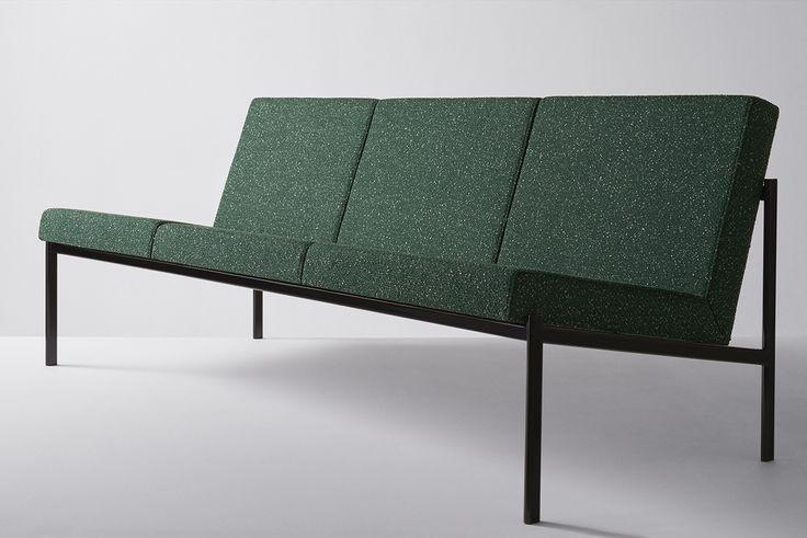 Ilmari Tapiovaara Kiki sofa for Artek in Raf Simons fabric