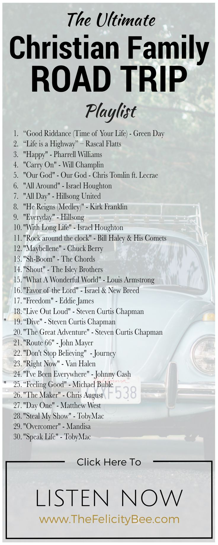 The ultimate christian family playlist gives you 30 songs of inspiration and fun jam out