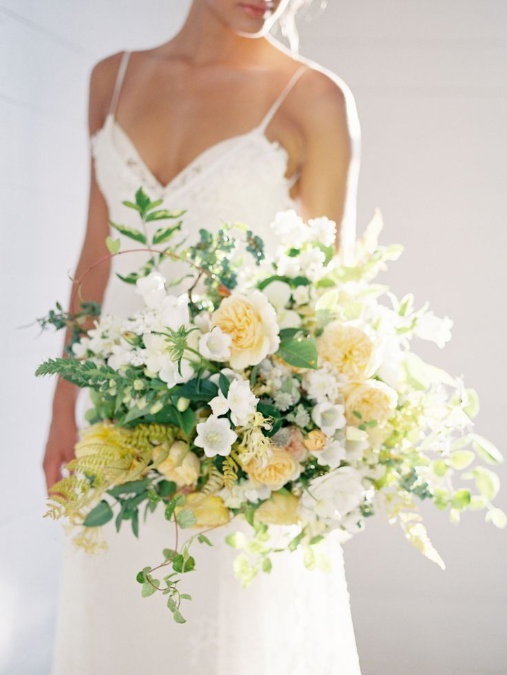 Natural Lush Green White Wedding Inspiration In 2020 Yellow