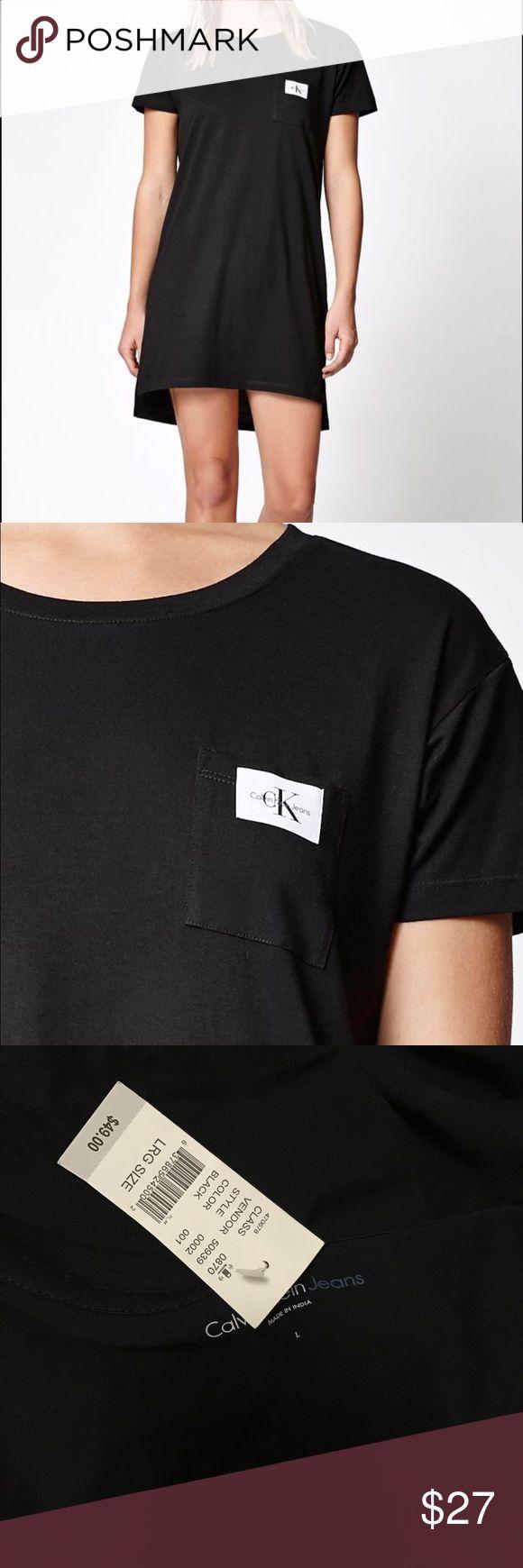 Calvin Klein Woven Label T Shirt Dress Calvin Klein T-Shirt Dress. Very comfortable, soft fabric material Calvin Klein Dresses Mini