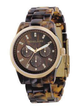 michael kors tortoise watch - oooooh.