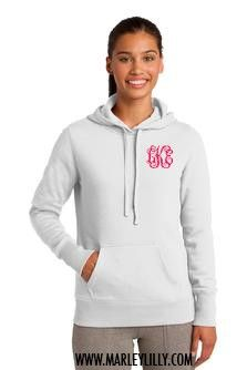 Monogrammed Pullover Hooded Sweatshirt | Personalized & Preppy | Marley Lilly
