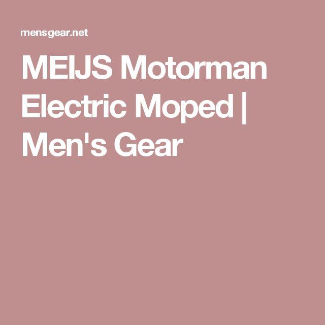 MEIJS Motorman Electric Moped | Men's Gear