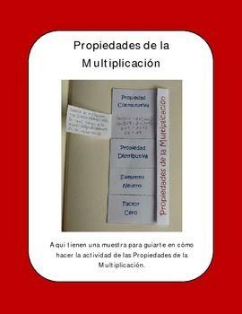 Properties of Multiplication: Propiedades de la Multiplica