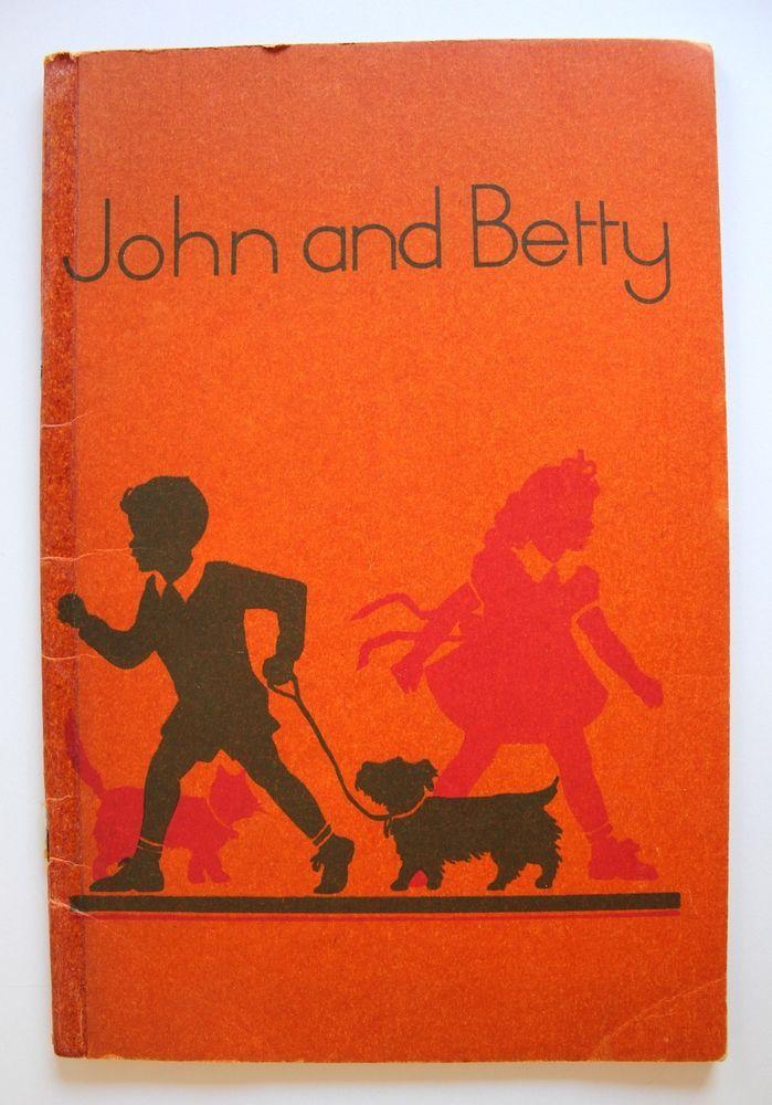 John and Betty Marjorie Howden 1951 School Reader Victorian Education Department