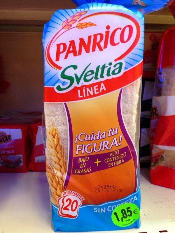 Panrico Sveltia Línea (Supersol y Carrefour) - 1 rebanada 1 punto.