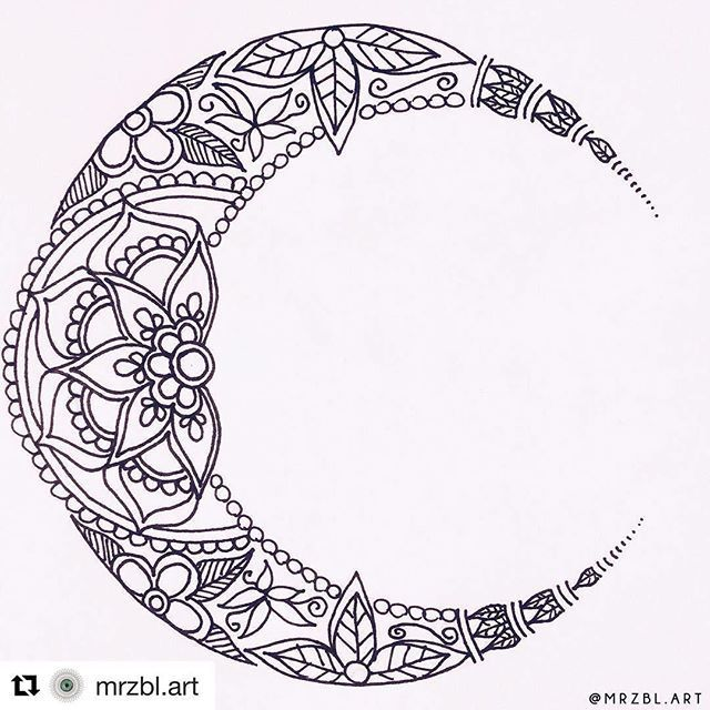 Mandala Luna Mandala Moon Tattoo Mandala Tattoo Design Body Art Tattoos