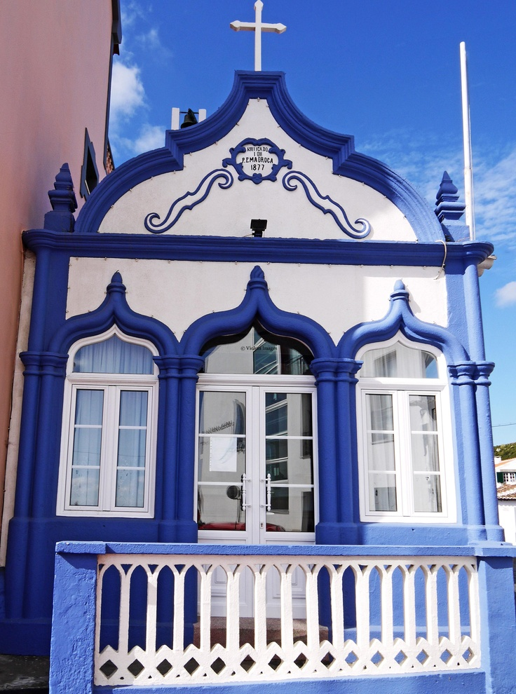 A chapel in Praia da Vitoria. Terceira island, Azores ~ So gorgeous and breath taking in person!
