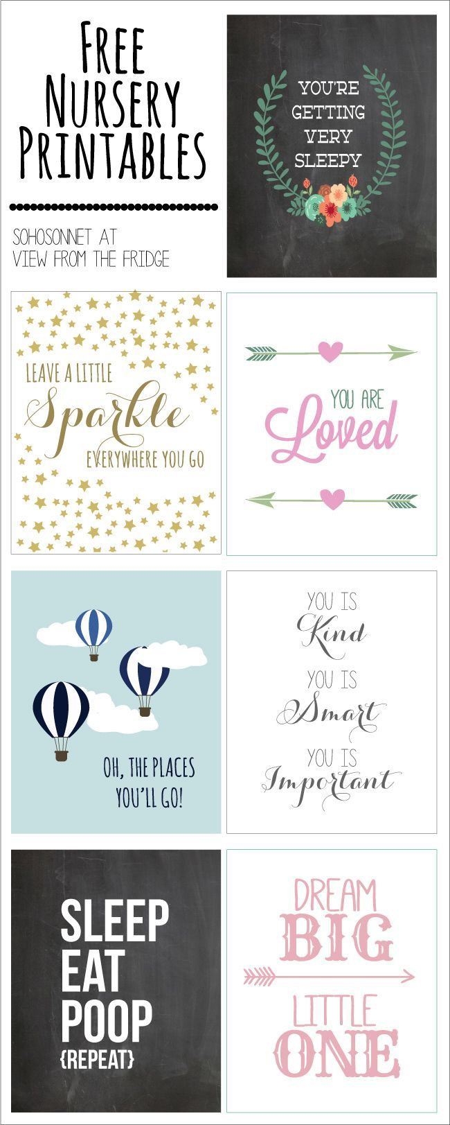Free Nursery Printables {SohoSonnet Guest Post} - View From The Fridge