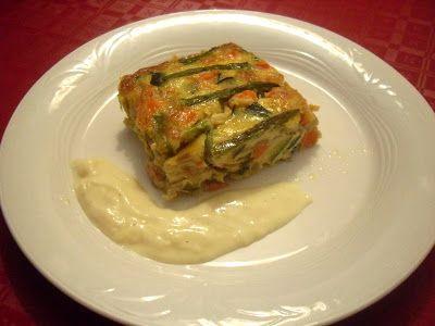Paprika En La Cocina: Pastel de verduras con salsa de queso