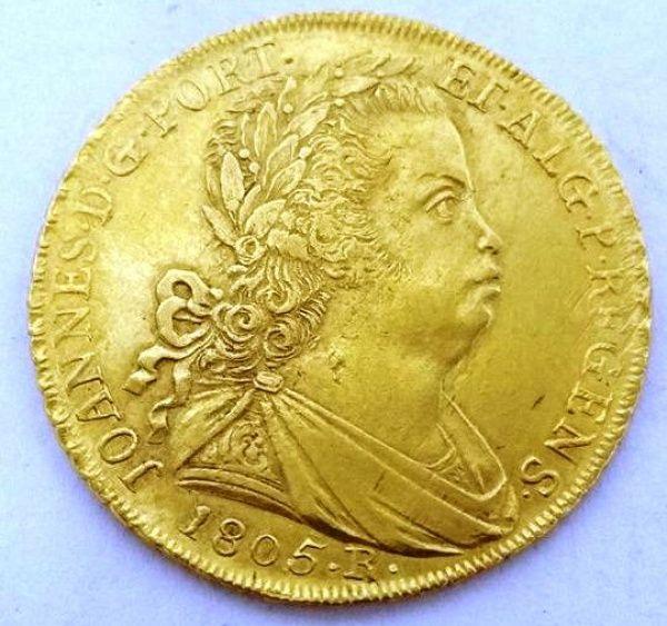 Moeda de Ouro Dom João VI, 6.400 RÉIS DE 1805 DO RIO DE..