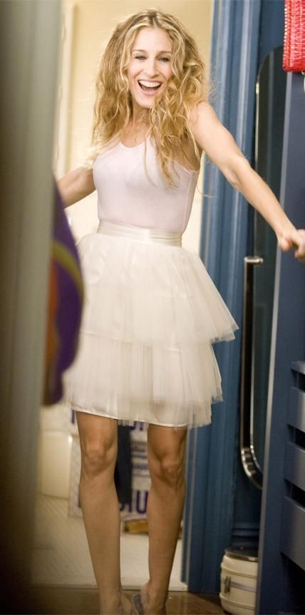 """Much like the famed Dior newspaper dress, the white tutu that Carrie Bradshaw dons in the opening sequence of Sex and the City and its first film, is a significant part of pop culture history. """"I remember I bought that tutu for $5!"""" says series costume designer Rebecca Weinberg. """"Our seamstress had to duplicate it because we knew in the sequence it was going to get wet."""""""